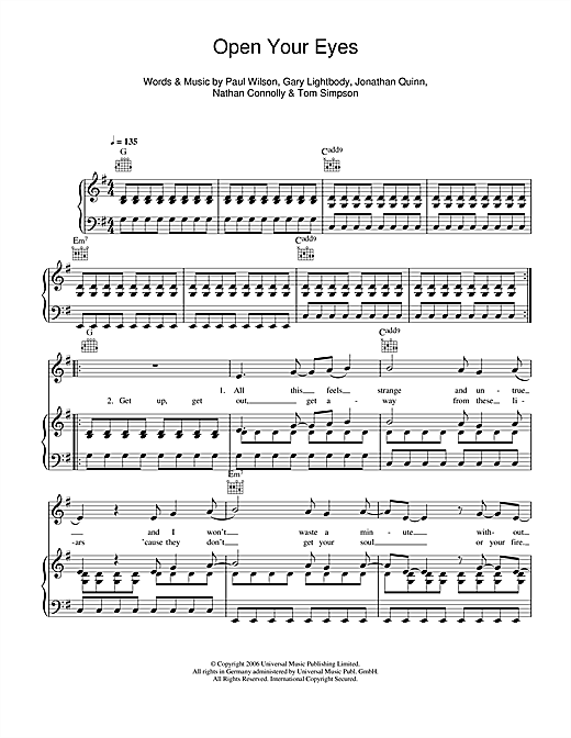 Open Your Eyes Sheet Music