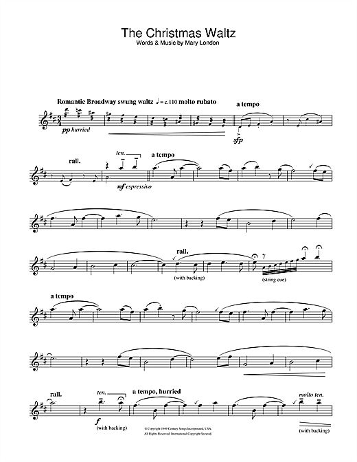 The Christmas Waltz Sheet Music