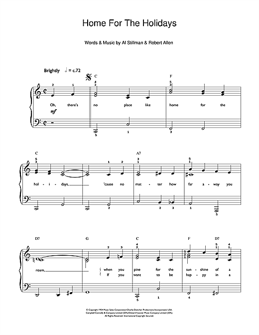 (There's No Place Like) Home For The Holidays Sheet Music