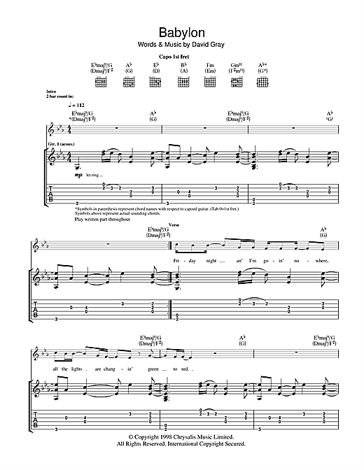 Babylon (Guitar Tab)