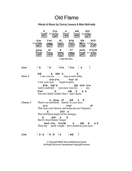 Old Flame (Guitar Chords/Lyrics)