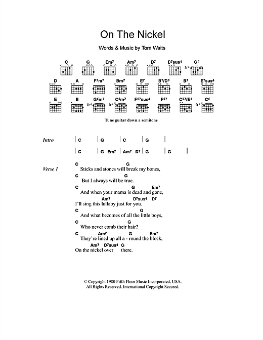 On The Nickel (Guitar Chords/Lyrics)