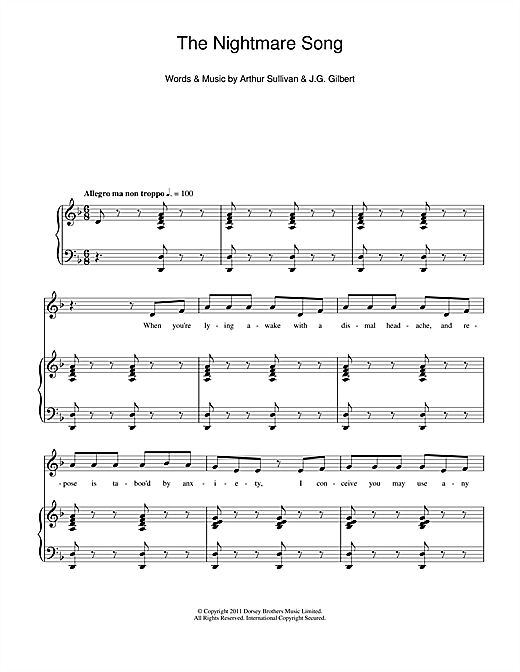 The Nightmare Song Sheet Music