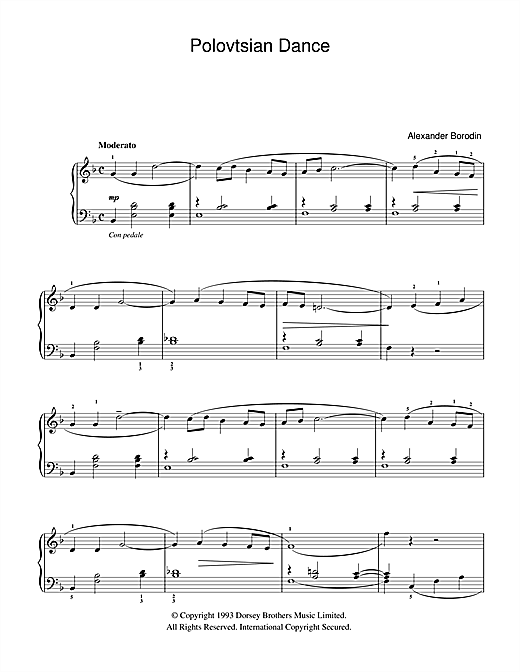 Polovtsian Dance Sheet Music