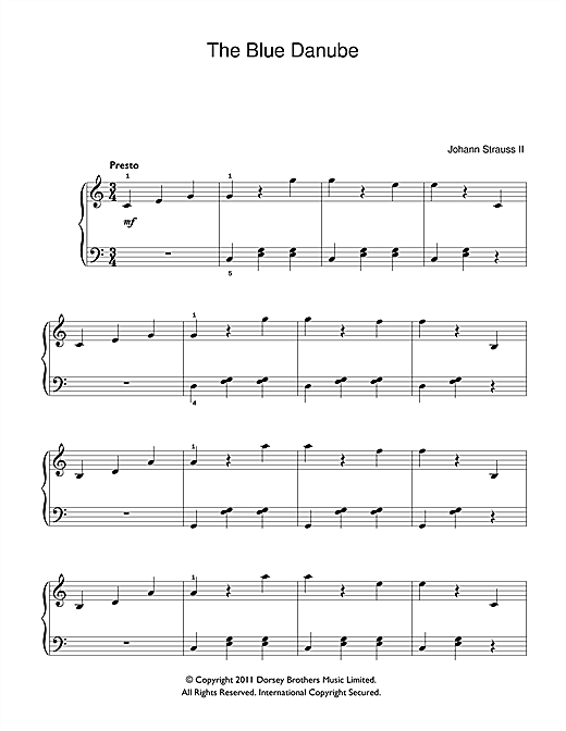 (On The Beautiful) The Blue Danube Sheet Music