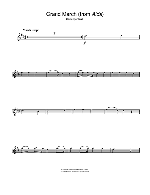 Grand March (from Aida) Sheet Music