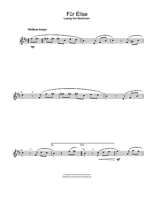 Für Elise Sheet Music