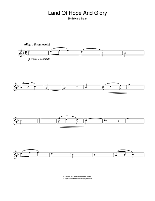Land Of Hope And Glory (Pomp And Circumstance March No 1) (Alto Sax Solo)