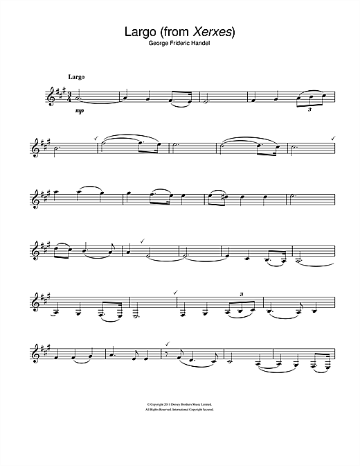Largo (from Xerxes) Sheet Music