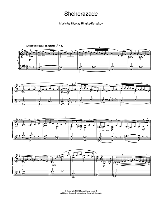 Sheherazade Sheet Music