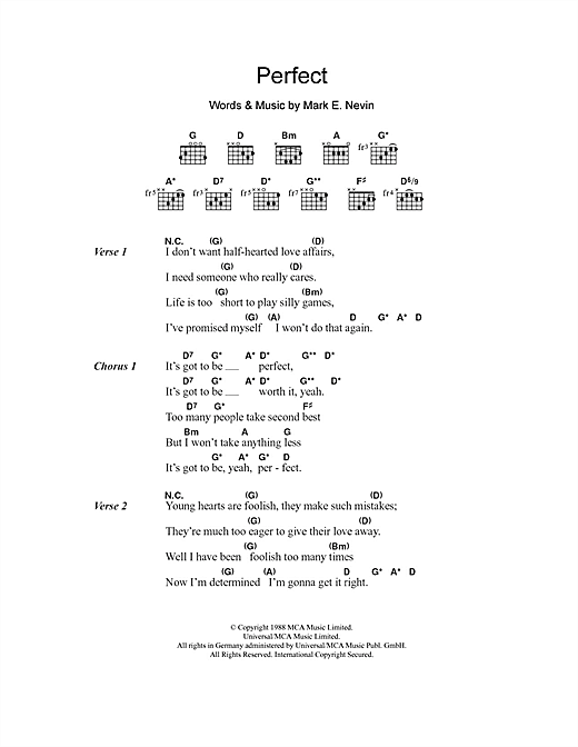 Perfect (Guitar Chords/Lyrics)