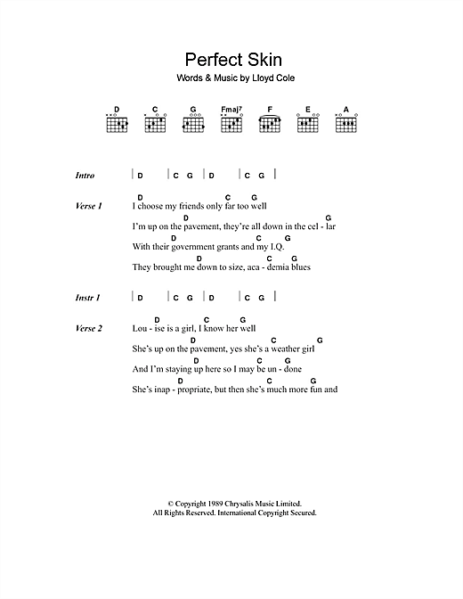 Perfect Skin Sheet Music