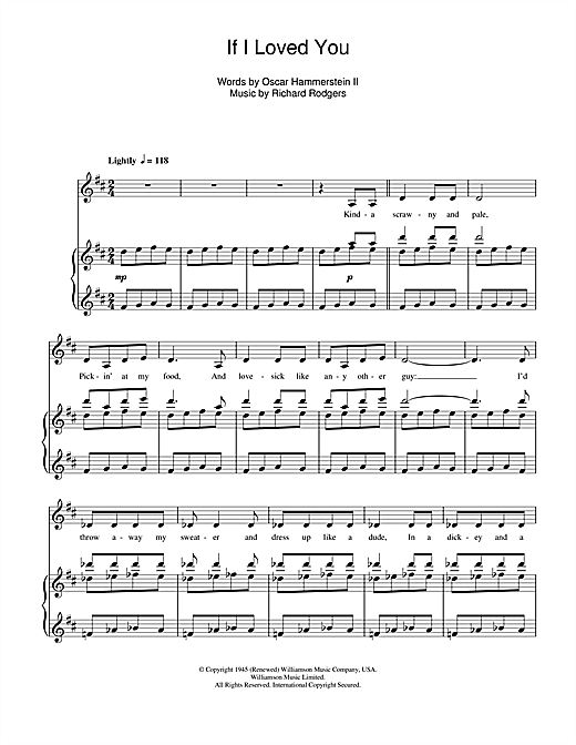 If I Loved You (from Carousel) Sheet Music