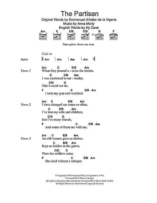 The Partisan Sheet Music