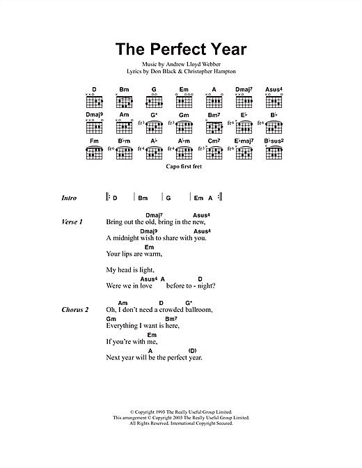 The Perfect Year (from Sunset Boulevard) (Guitar Chords/Lyrics)