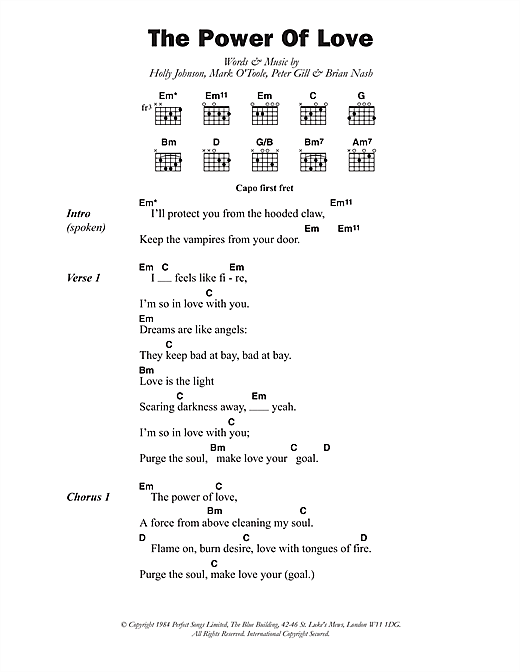 The Power Of Love Sheet Music