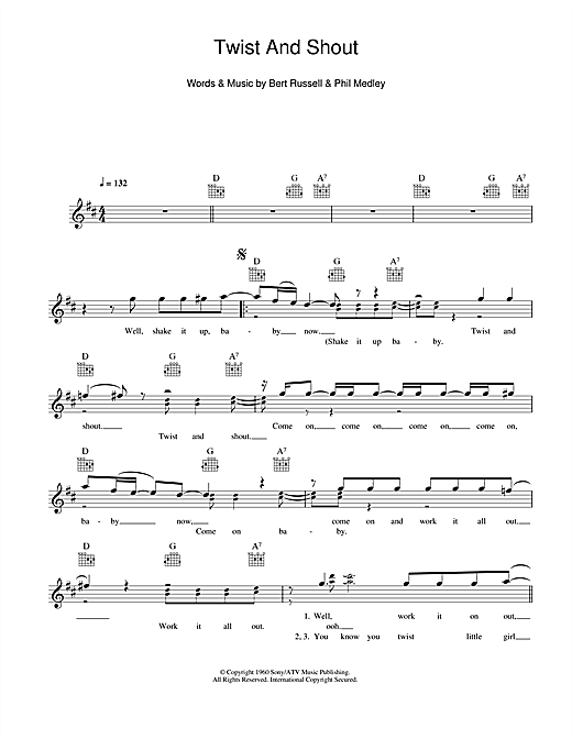 Twist And Shout Sheet Music