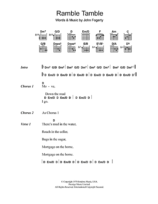 Ramble Tamble Sheet Music