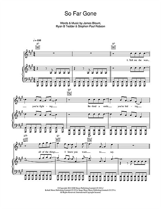 So Far Gone Sheet Music