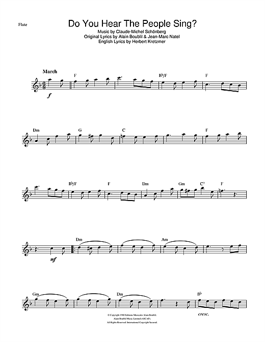 Do You Hear The People Sing? (from Les Miserables) Sheet Music