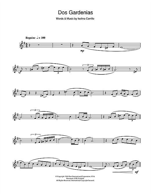Dos Gardenias Sheet Music