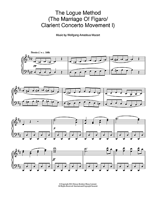 The Logue Method (The Marriage Of Figaro/Clarient Concerto Movement I) Sheet Music
