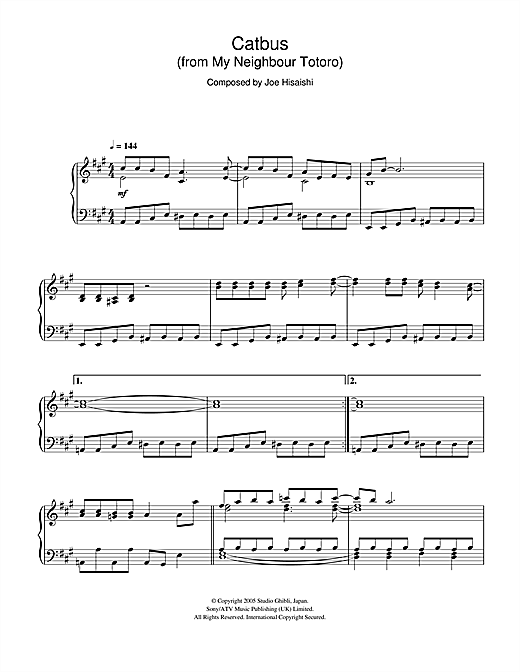 My Neighbour Totoro (Catbus) Sheet Music