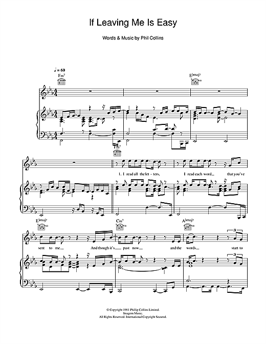 If Leaving Me Is Easy Sheet Music