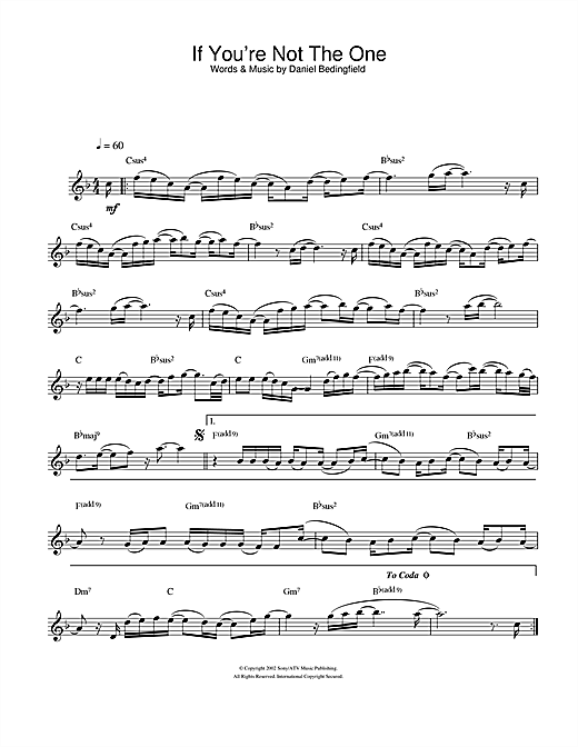 If You're Not The One Sheet Music