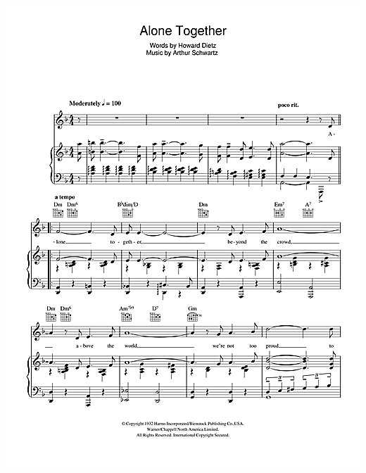 Alone Together Sheet Music