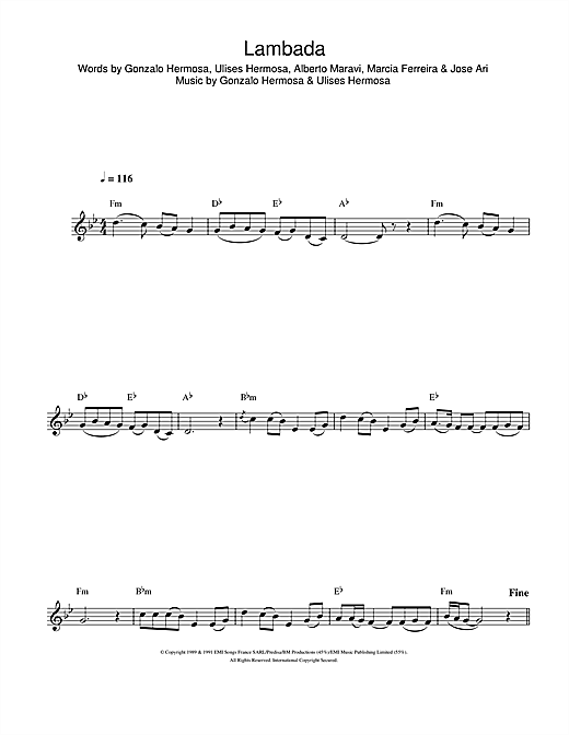 Lambada Sheet Music