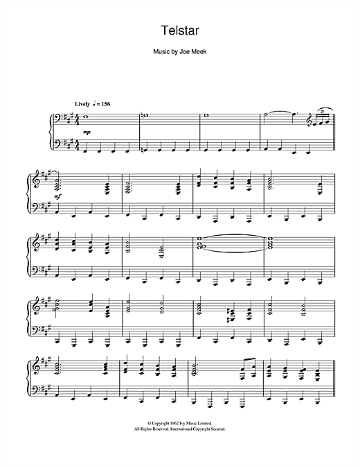 Telstar Sheet Music