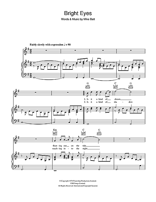 Bright Eyes Sheet Music