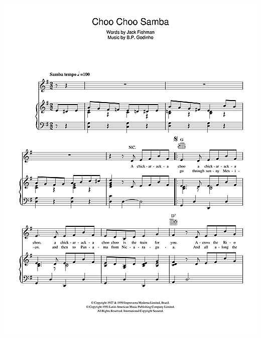 Choo Choo Samba Sheet Music