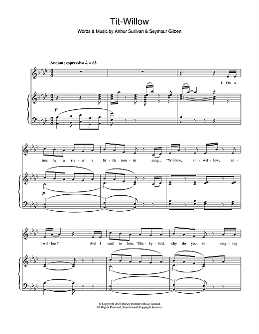 Tit-Willow Sheet Music