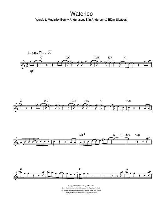 Waterloo Sheet Music