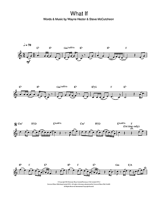 What If Sheet Music