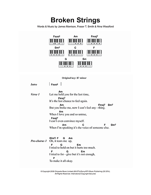Broken Strings (feat. Nelly Furtado) Sheet Music