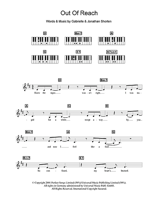 Out Of Reach Sheet Music