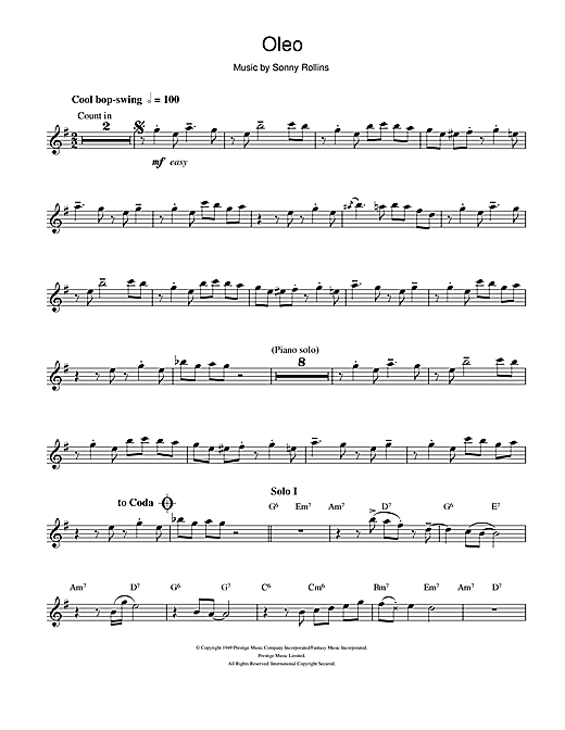 Oleo Sheet Music