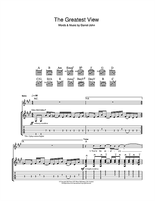 The Greatest View Sheet Music
