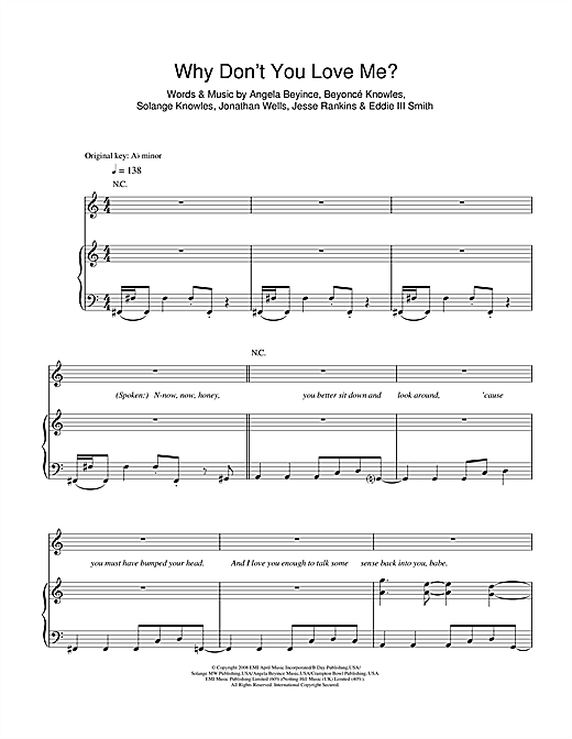 Why Don't You Love Me Sheet Music