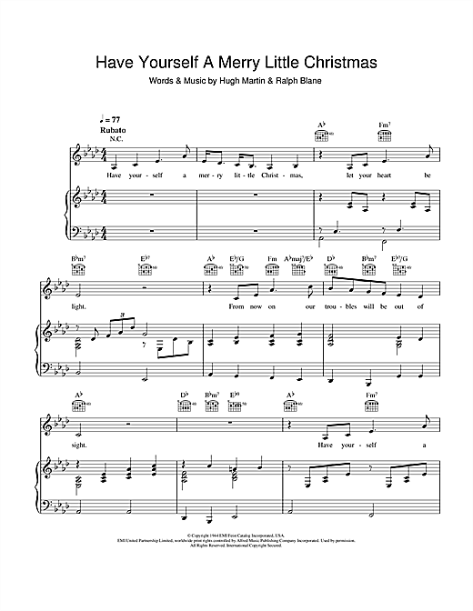 Frank Sinatra Have Yourself A Merry Little Christmas.Have Yourself A Merry Little Christmas Piano Sheet Music By Frank Sinatra Piano Voice Guitar