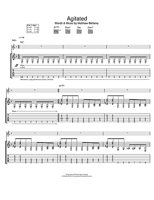 Agitated Sheet Music