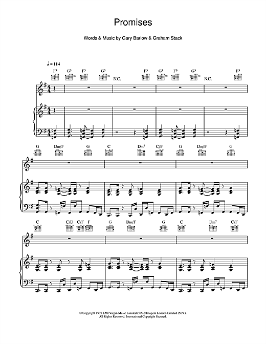 Promises Sheet Music