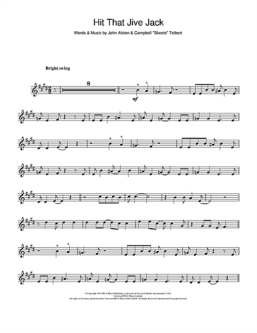 Hit That Jive Jack Sheet Music