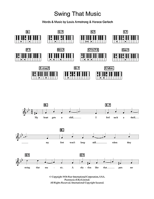 Swing That Music Sheet Music