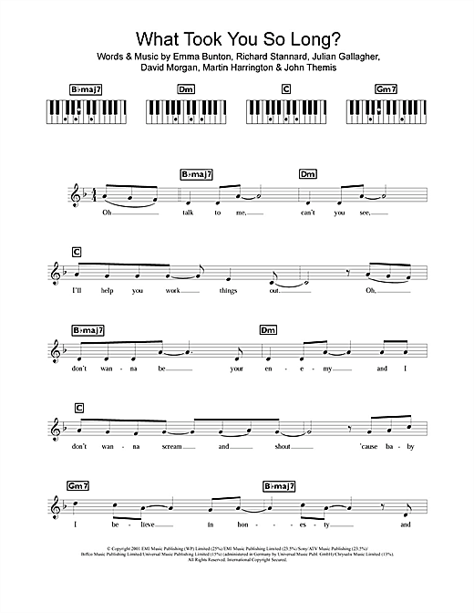 What Took You So Long? Sheet Music