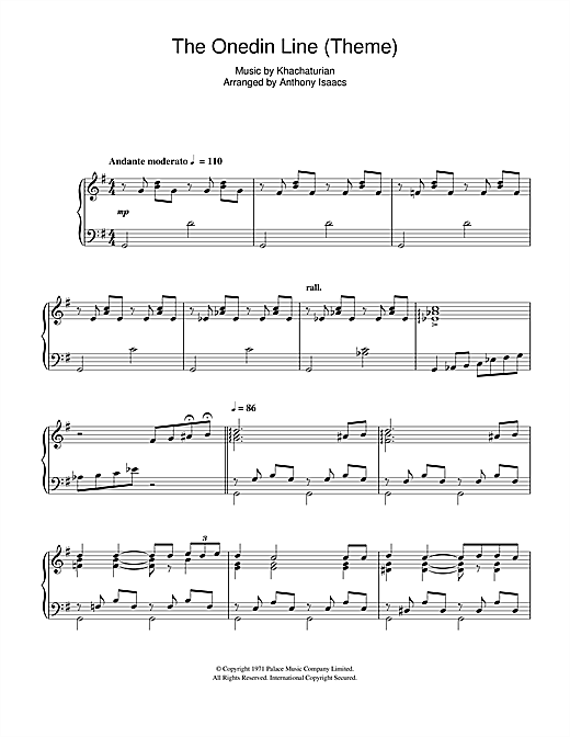 The Onedin Line (Theme) Sheet Music