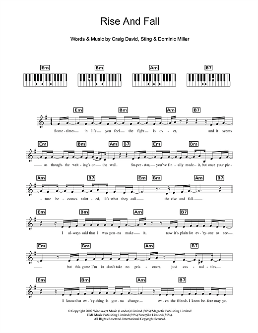 Rise & Fall Sheet Music